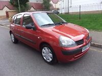 Renault Clio 1.4 16v Expression 5dr Automatic,part exchange welcome,hpi clear,mot november 17