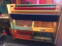 4 children's book storage units