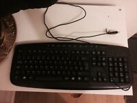 Black Wired Full Keyboard (New)