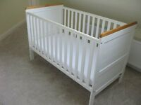 White East Coast Cotbed with Mattress