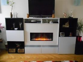 Media Centre With Dru Electric Fire and Remote Control