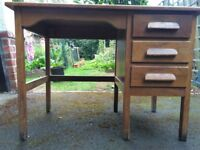 Wooden desk with 3 drawers