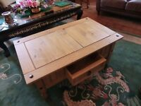 solid wood ( single ) cabinet chest with draw or table in good order