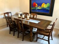 Extendable Dining Table + 6 Dining Chairs