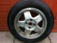 Winter tyres 195/65/15 continental plus the alloy and steel rim that are already fitted