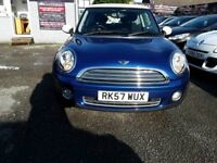 57 MINI COOPER 1.6 IN TAIHITI BLUE WITH WHITE ROOF , 82K WITH FSH