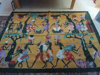 Fabulous Genuine Large Batik Wall Hanging from Senegal