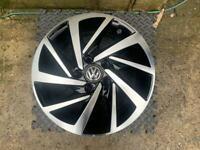 "VW GOLF MK7 SPORTSVAN WOODSTOCK 16"" GLOSS BLACK & DIAMOND CUT ALLOY WHEEL X1"