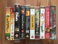 Ten films on original VHS tapes - as new