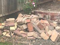 Broken slabs and bricks
