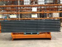20 bay run of dexion pallet racking 4.6 meters high ( storage , shelving )