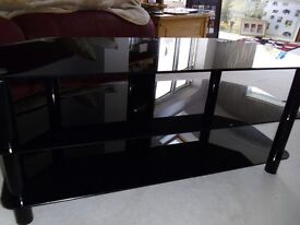 Black smoked glass TV stand - EXCELLENT CONDITION