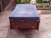 Car Trailer complete with Cover and Lights 5X3