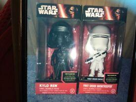 Star Wars - Kylo Ren & First Order Snowtrooper Wacky Wobblers New