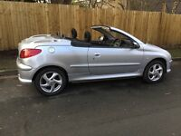 Peugeot 206cc Convertible, Automatic Gearbox, 1587 cc, Mot Aug 17, Service History, Electric Roof