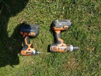 AEG impact driver and combi drill