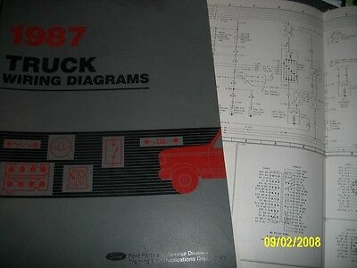 1987 ford f600 f800 f-600 - f-800 cowl trucks wiring diagrams schematics set