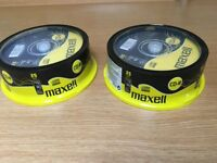 2 x 25 (50) packs of brand new Maxell CDRs