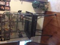 """Large open top bird cage 1/4"""" bar spacing . Need gone !"""
