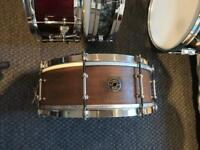 1938 Ludwig and Ludwig Pioneer snare drum. 14x5.