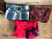 Women bundle clothes size 14