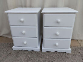 White Pine Bedside Cabinets x 2