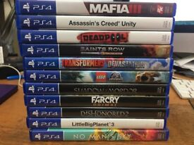 Selection of PS4 Games (with postage!)
