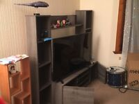 Entertainment unit with storage