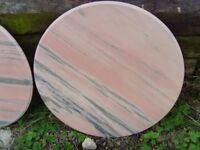New marble table tops