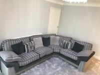 Lovely grey corner sofa