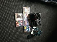 PS3 with games turtle beach headset