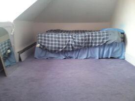 Loft room available.