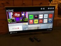 LG 42 INCH SMART LED INTERNET TV WITH FREEVIEW HD.