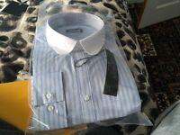 Goodsouls blue stripe shirt NEW 16.5 dollar size