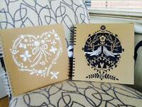 2 paperchase scrap books