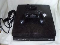 PS4 CONSOLE , DESTINY Collectible Edition with Pad and all cables.
