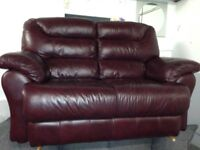 lovely brown leather sofa for sale