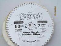 "FREUD NEW 7 1/4"", 60 TOOTH ULTRA FINISHING CIRCULAR SAW BLADE"