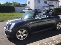 Mini Cooper sports cabriolet.Full leather interior.Regular serviced and maintained. parking sensors.