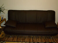 New Brown Leather sofa bed