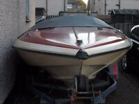 Glastron Carlson C-500 Metric Speedboat with Outboard & Trailer