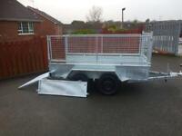 Trailer 8x4 galvanised and full mesh