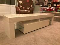 Contemporary gloss TV cabinet - NOW GONE
