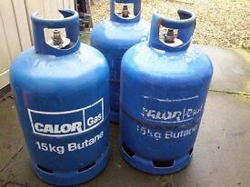 Gas bottles! Full, part fulll and emptys. 13kg, 15kg, 19kg, Propane and Butane.