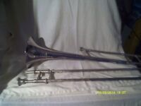 "A BESSON "" WESTMINSTER "" TROMBONE In SILVER PLATE , IN V.G.C. SLIDES & PLATING GOOD"