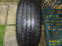 one only part worn Tyre size 235 x 40 x 19.like new