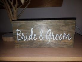 7 Wedding Sign or banners for Rustic/Vintage Weddings