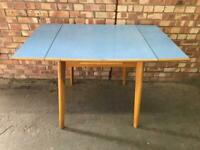 Mid century draw leaf Formica kitchen table