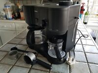 Coffee Maker. Krups model 866. Filter & espresso coffee, milk foamer