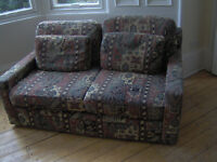 two-seater sofa, reasonable condition
